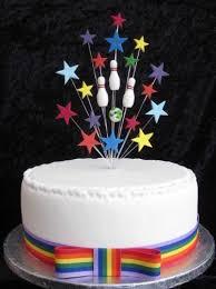 Ten Pin Bowling Cake Decorations