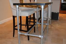 diy counter height table with pipe legs bar height table legs