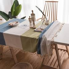 nordic rectangular tablecloth coffee table cloth decorative table cover for kitchen tassel design wedding party tablecloths