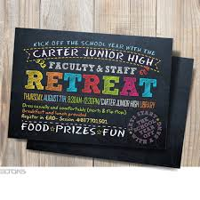 faculty back to school kick off the school year the faculty staff retreat printable chalkboard party invitation