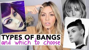All Types Of Bangs And Which To Choose