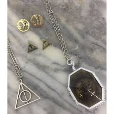 harry potter set of four jewelry lot euc includes ly hallows necklace