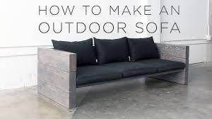 diy patio sofa plans. how to make an outdoor sofa - youtube regarding diy sectional plans (image 15 patio