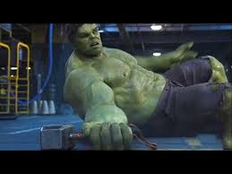 thor vs hulk fight scene the avengers