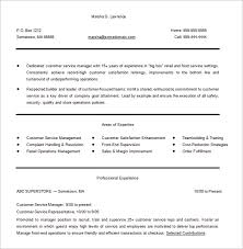 40 Customer Service Resume Templates DOC PDF Excel Free Magnificent Resumes For Customer Service Managers