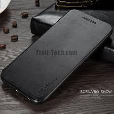 htc 10 black. x-level fibcolor series flip stand tpu+ pu leather case for htc 10 - black htc