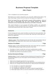 Real Business Plans One Page Business Plan Template Easy