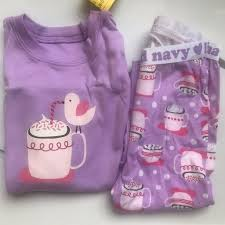 Old Navy 2t Size Chart Details About Old Navy Girls Purple Hot Chocolate Pajamas Long Sleeve Size 12 18 Months Nwt