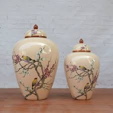 Decorative Jars And Vases Chinese ceramic jar high temperature temple jar vase Restaurant 91