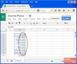 sig figs google sheets how to set decimal values for numbers in google docs spreadsheet