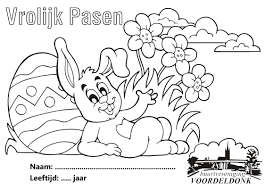 Kleurplaat Pasen Bv Voordeldonk Buurtvereniging Voordeldonk Asten