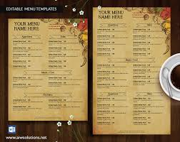 french menu template design templates menu templates wedding menu food menu bar