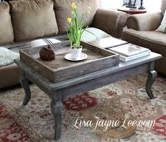 grey wood stain coffee table makeover