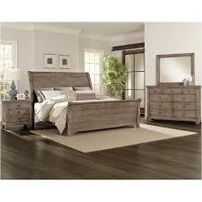 Whiskey Barrel - Rustic Gray Bedroom Set Vaughan Bassett Furniture