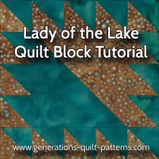 Lady of the Lake Quilt Block: Instructions for 3 sizes & Lady of the Lake quilt block tutorial Adamdwight.com