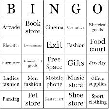 Office Bingo Shopping Mall Bingo Cards