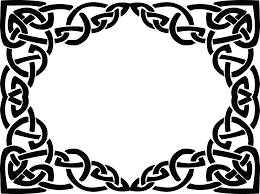 Free Clipart of a celtic rectangle frame border design element in