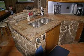 awesome concrete countertop over laminate kitchen design gallery featuring stonehenge resurface existing tile overlay granite overhang