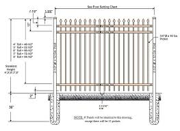 picket fence drawing. Aluminum Drawing Picket Fence