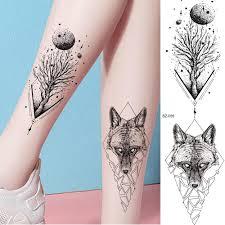 Rejaski Body Arm ноги мода татуировки наклейки женщины луна дерево планет