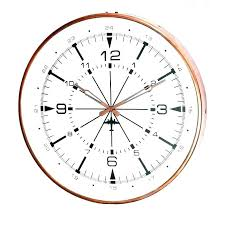 inch wall clock copper very large extra skeleton cl