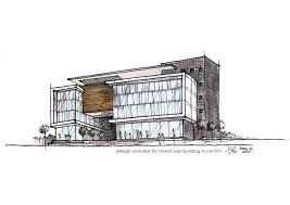 architectural building sketches. Office Building Design Sketches New In Modern Sketch Architecture Hand Architectural