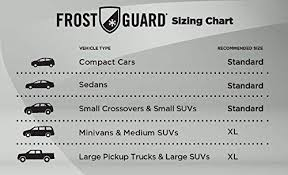 Frost Guard Windshield Cover Size Chart Frostguard 52874 Pro Premium Winter Windshield Wiper Blade