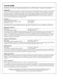 Babysitter Job Description Resume Unique Child Care Sample Fresh