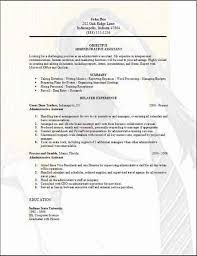 Administrative Assistant Resume Interest Free Office Assistant