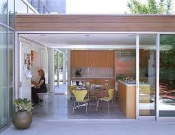 glass pro omaha ideas for modern kitchen with patio doors flat roof roof line and kitchen table by paul davis architects