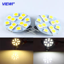viewi 10x ampoule g4 3w bulb light 12 volt led household lamp car reading lights 5050 12 leds 12v marine camper chandelier lamps led light bulbs light bulb