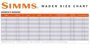 White River Waders Size Chart 7 Simms Kenai Long Sleeve Shirt Simms North 40 Fly Shop