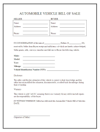 automobile bill of sale as is automobile bill of sale template readleaf document