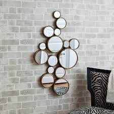 mirrored circles wall decor 37 inspiring style for modern mirrored throughout mirror circles wall art