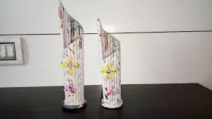 News Paper Flower Vase Galaxy Coaching Classes Newspaper Flower Vase L Newspaper