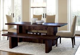modern dining table with bench. Gorgeous Modern Dining Table With Bench Andifurniture F
