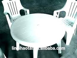 plastic garden table white plastic garden table and chairs outdoor round resin patio tables medium size
