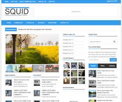 Squid Clean Responsive Blogger Template Blogger Templates 2018