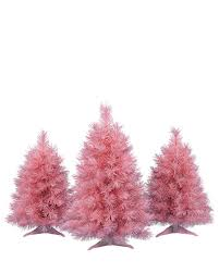 Pretty in Pink Tabletop Christmas Trees #PinkChristmas. rollover to zoom in