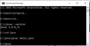 programming in java using command prompt cmd on windows  if everything is fine e g no error the java compiler quits silently no fuss after compiling it generates thehello class file which is bytecode form