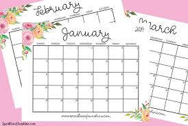 Free Printable 2019 Calendar With Weekly Planner Sparkles