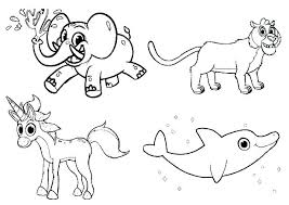 Animal Colouring Pages To Print Sheets Farm Printable Coloring Baby