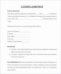 Catering Contract Template Best Food Supply Agreement Sample Elegant Sample Catering Contract