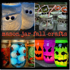 mason jar fall and crafts mummies cups eye and votives