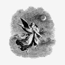子供のイラストとヴィンテージの天使 ベクター画像 無料ダウンロード