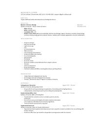 Resume for Job Fair. MADELINE N. JOYNER 120 Cee Jay Road | Chestertown, MD  21620 | 410-