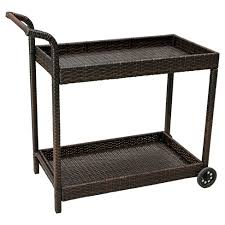 savona wicker outdoor serving cart brown christopher knight with plan 5