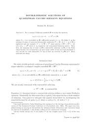 pdf double periodic solutions of quasilinear cauchy riemann equations academic article