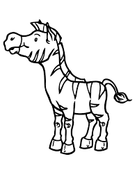 Small Picture cartoon zebra coloring pages Funny Zebra Coloring Pages Color
