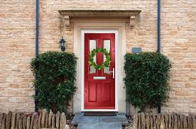 hanging a wreath on a composite door